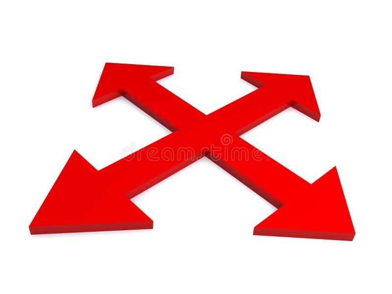 Download Frecce rosse illustrazione di stock. Illustrazione di concetto - 7311065