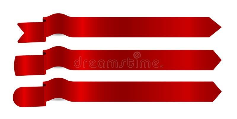 Frecce rosse dei nastri fotografie stock libere da diritti