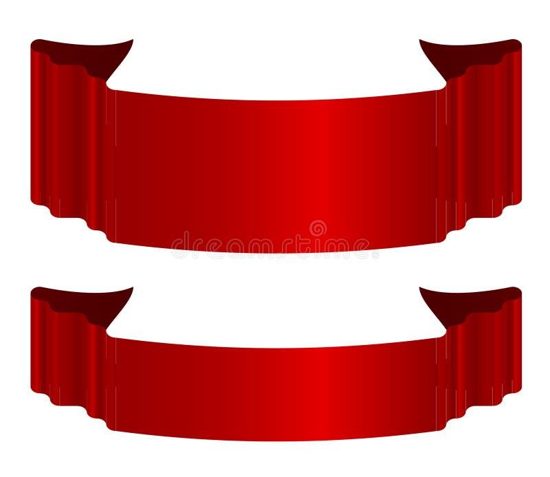 Frecce rosse dei nastri fotografia stock