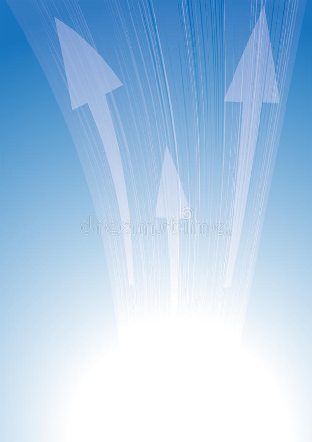Frecce sull'azzurro illustrazione vettoriale