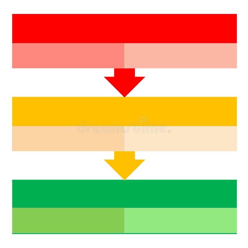 Frecce trattate illustrazione vettoriale