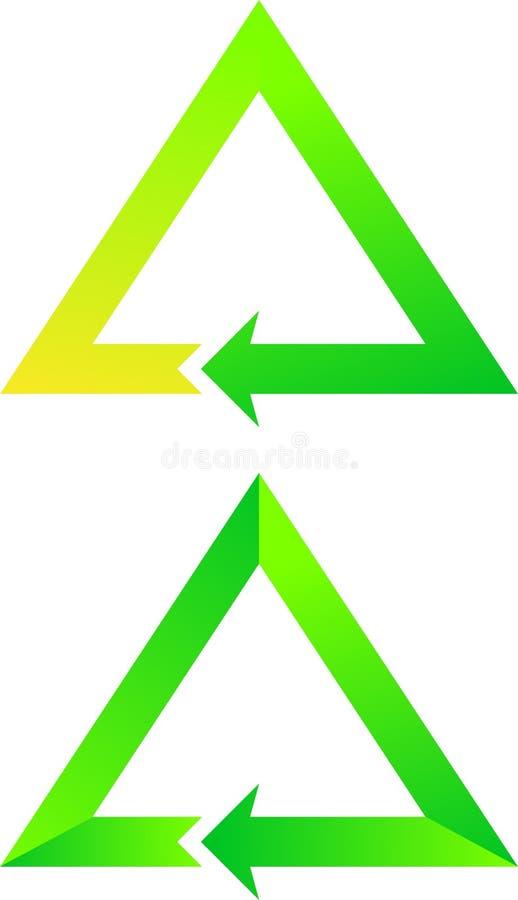 Frecce trattate verdi royalty illustrazione gratis