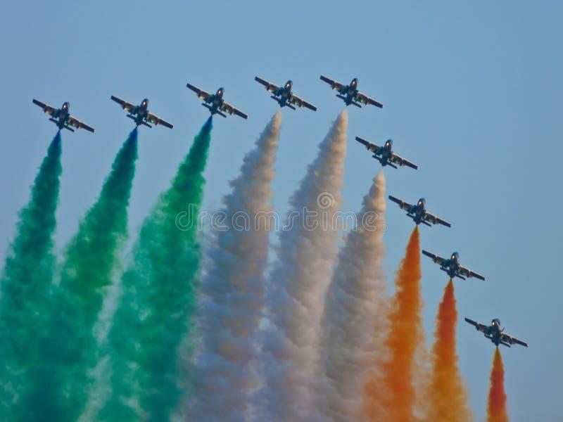 Download Frecce Tricolori stock photo. Image of colour, flag, frecce - 26037868