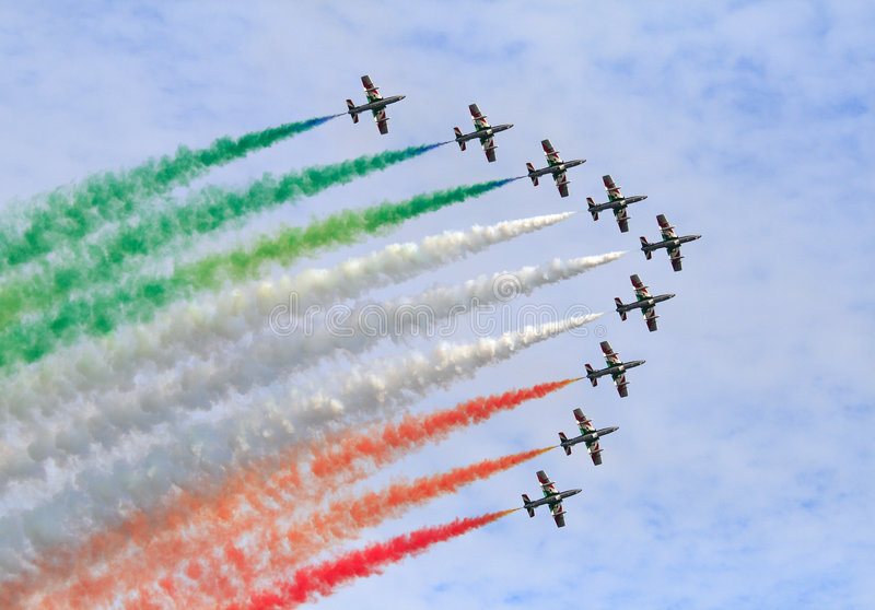 frecce tricolori στοκ εικόνα με δικαίωμα ελεύθερης χρήσης