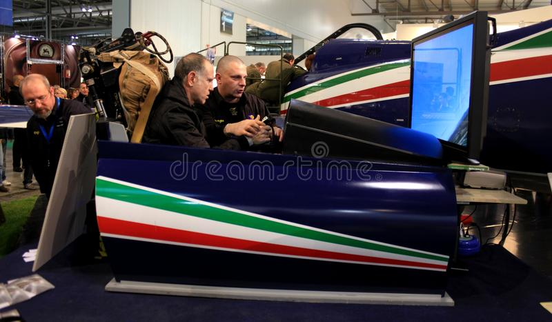 Frecce Tricolori acrobatic flying circus royalty free stock photo