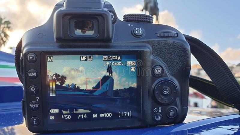 Frecce Tricolori na pokazie - obrazek w obrazku zdjęcia royalty free