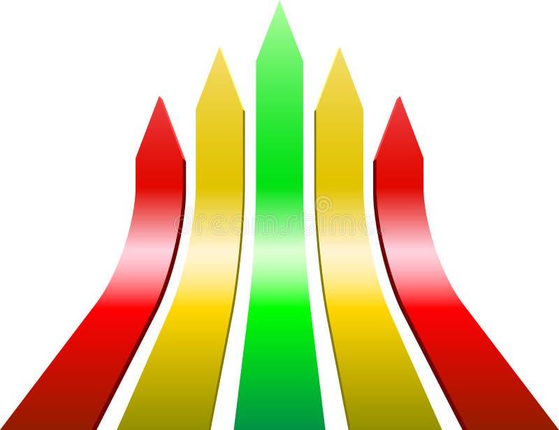Frecce Varicolored illustrazione di stock