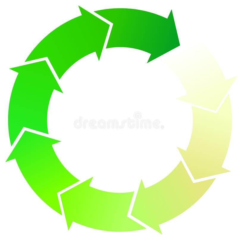 Frecce verdi illustrazione di stock