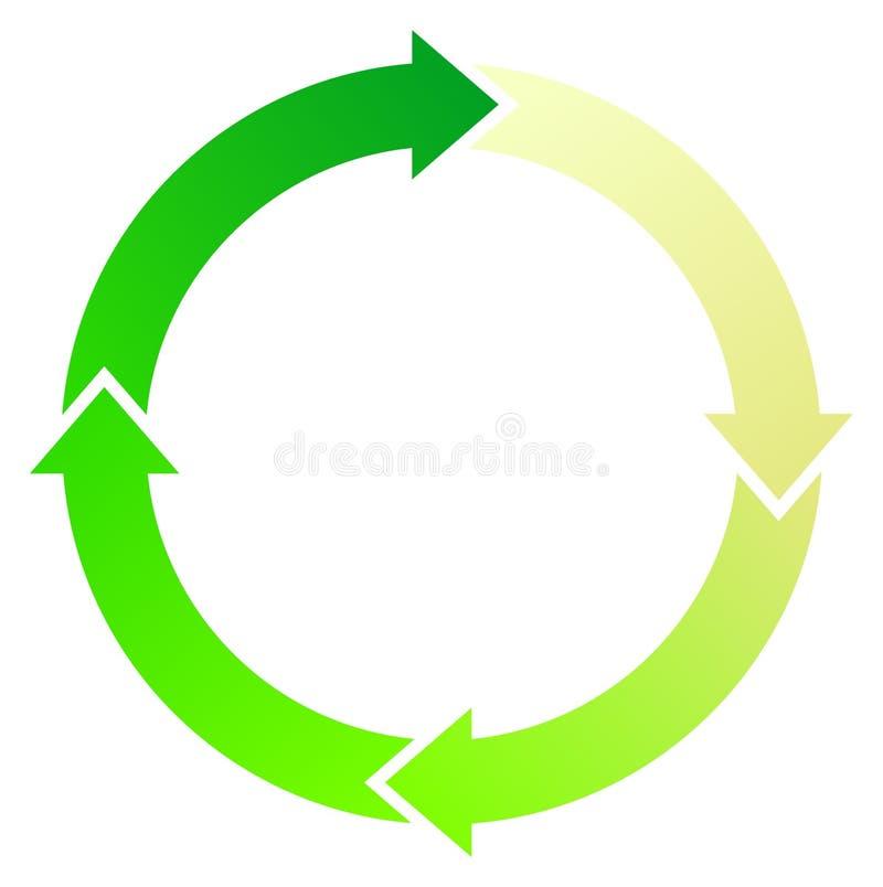 Frecce verdi illustrazione vettoriale