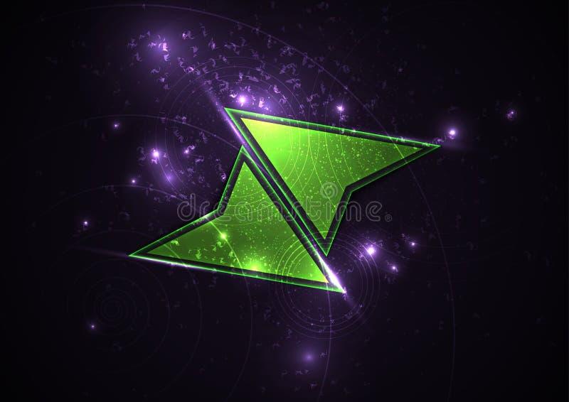 Frecce verdi Fondo futuristico dinamico royalty illustrazione gratis