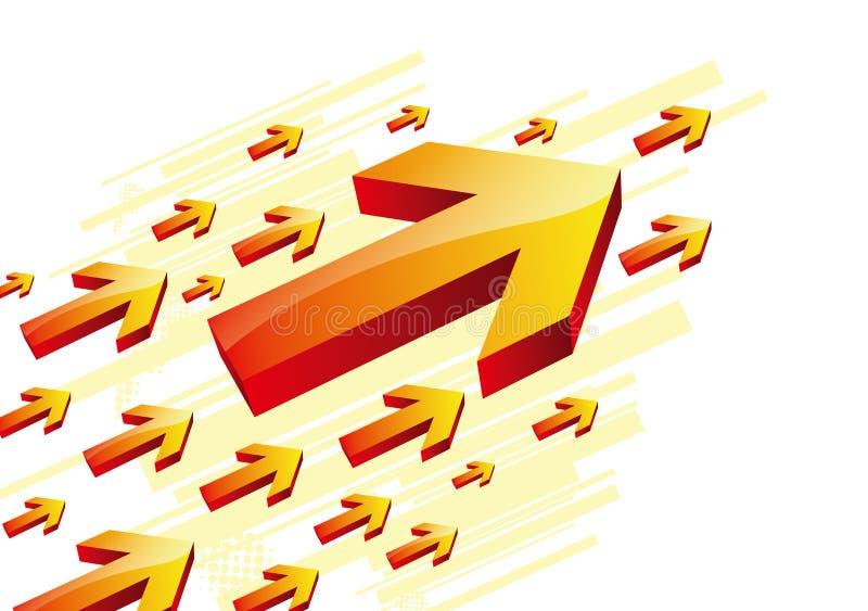 Freccia illustrazione di stock