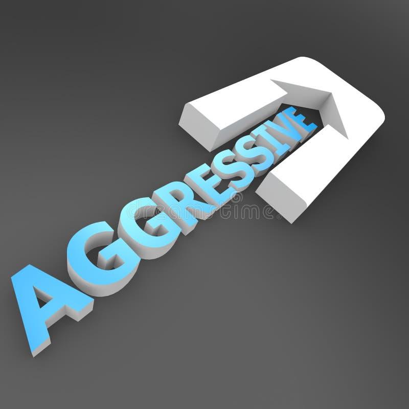 Freccia aggressiva royalty illustrazione gratis
