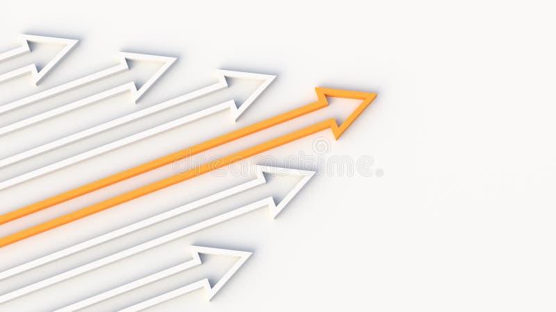 Freccia arancio del capo fotografia stock libera da diritti