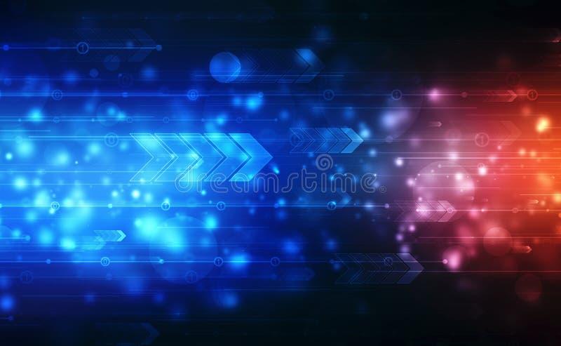 Freccia astratta: velocità di avanzamento futuristico della tecnologia di potenza, tecnologia digitale di velocità illustrazione di stock
