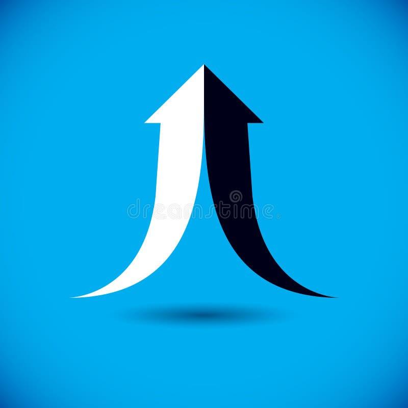 Freccia in aumento di vettore Logo corporativo di sviluppo Sviluppo dell'azienda illustrazione di stock