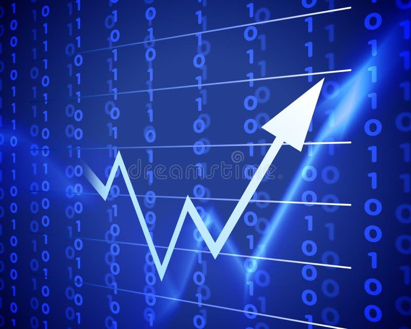 Freccia blu in su illustrazione vettoriale
