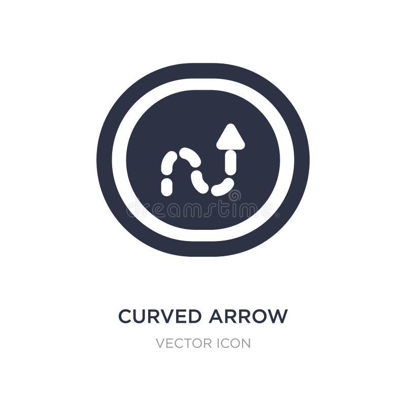 freccia curva con la linea tratteggiata icona su fondo bianco Illustrazione semplice dell'elemento dal concetto di UI illustrazione vettoriale