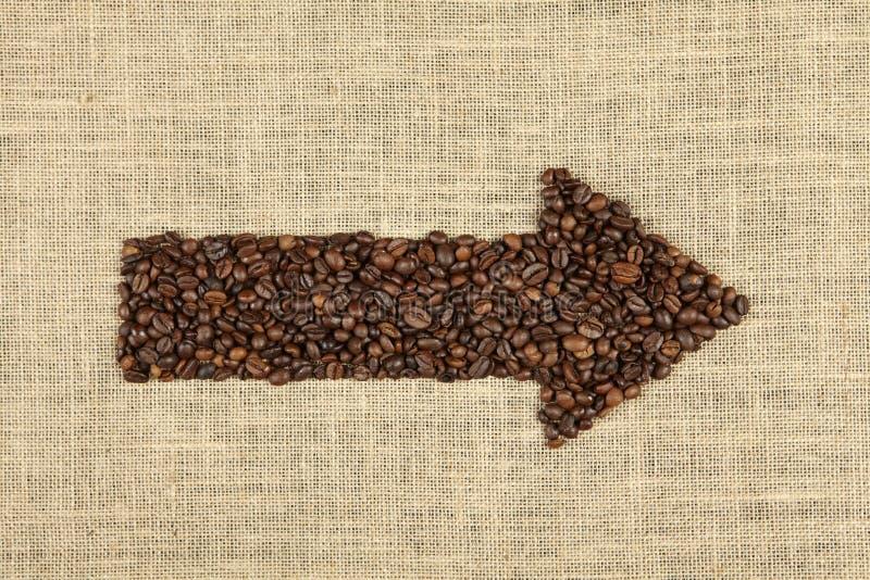Freccia del caffè fotografia stock