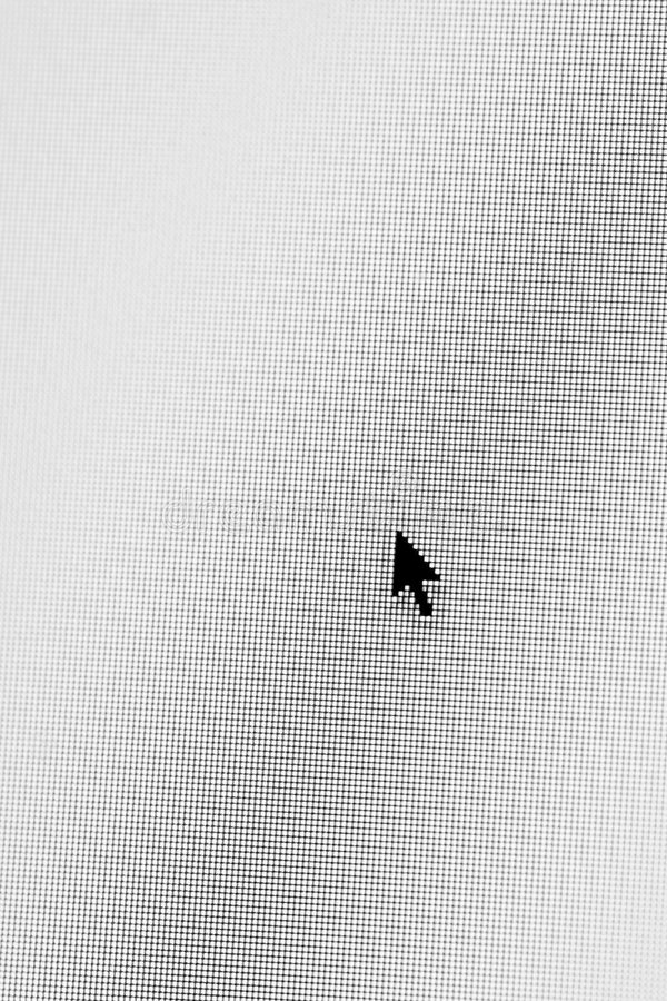 Freccia Del Calcolatore Fotografie Stock Libere da Diritti