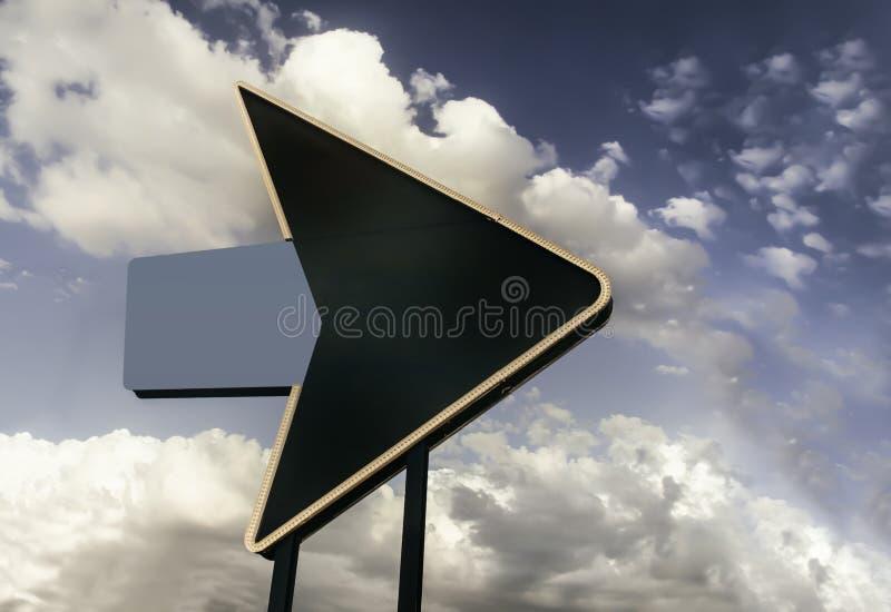 Freccia del classico del segno della strada principale della strada di Route 66 fotografia stock