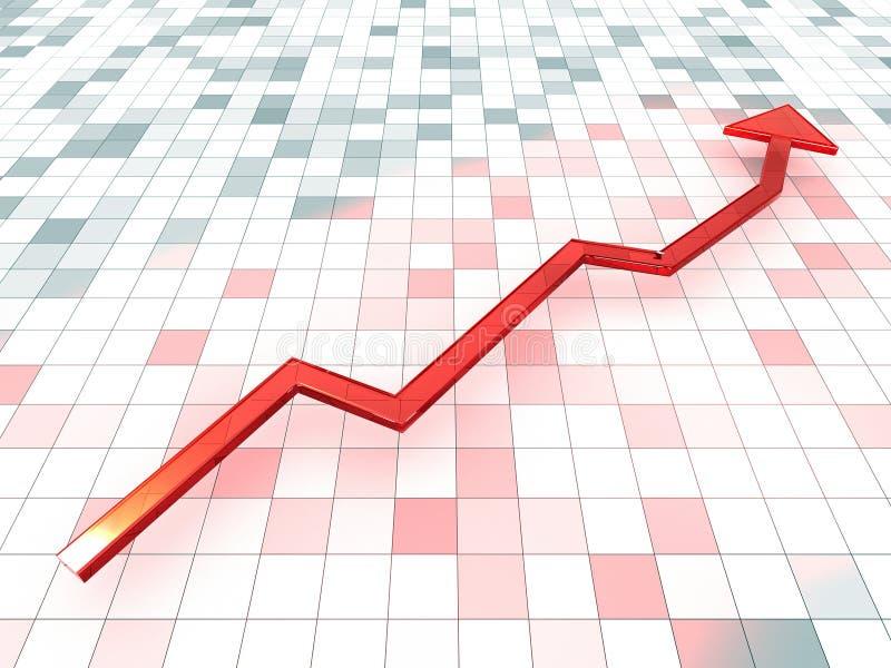 Freccia del grafico illustrazione di stock