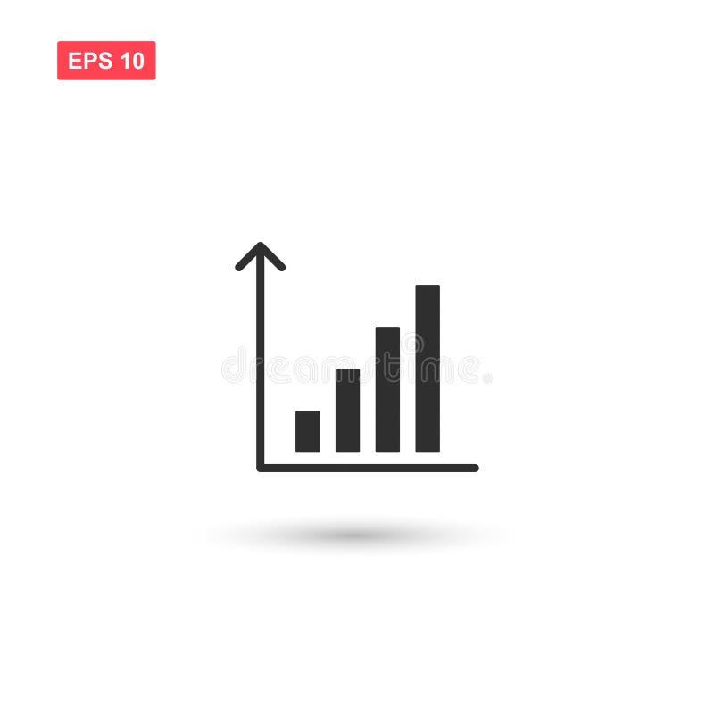 Freccia del grafico commerciale sul vettore isolata illustrazione vettoriale