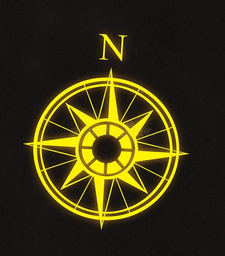 Freccia del nord del programma di bussola illustrazione di stock