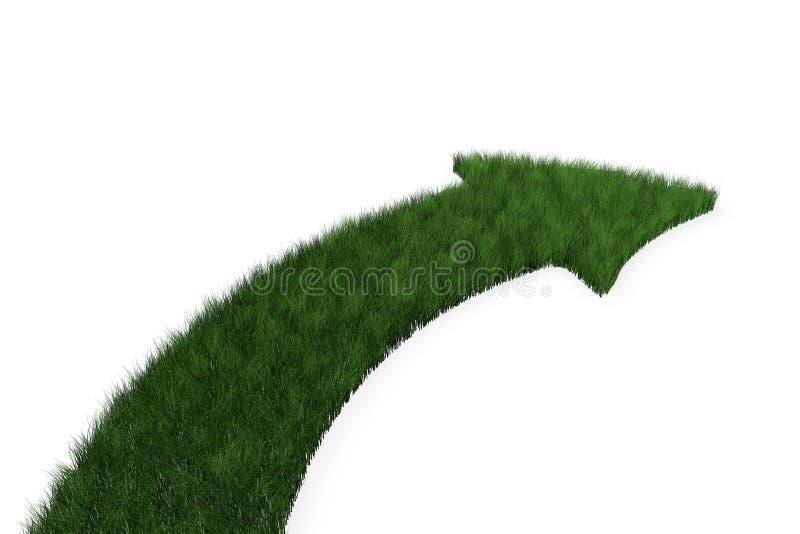 Download Freccia Dell'erba Che Gira A Destra Illustrazione di Stock - Illustrazione di ecologia, verde: 21550191