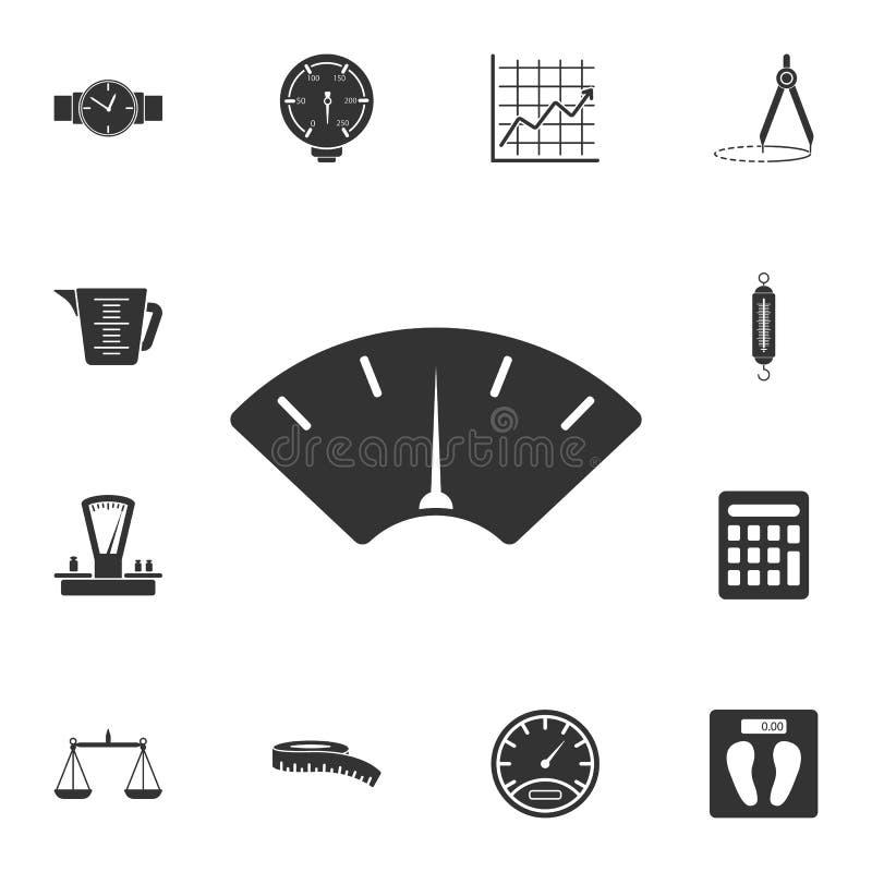 freccia dell'icona delle scale Illustrazione semplice dell'elemento freccia di progettazione di simbolo delle scale dall'insieme  illustrazione di stock