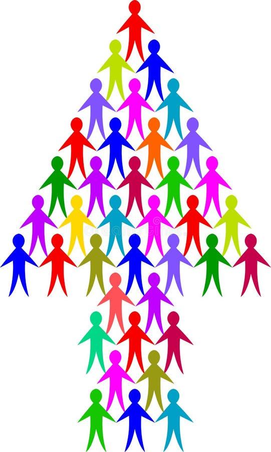 Freccia della gente di diversità illustrazione vettoriale