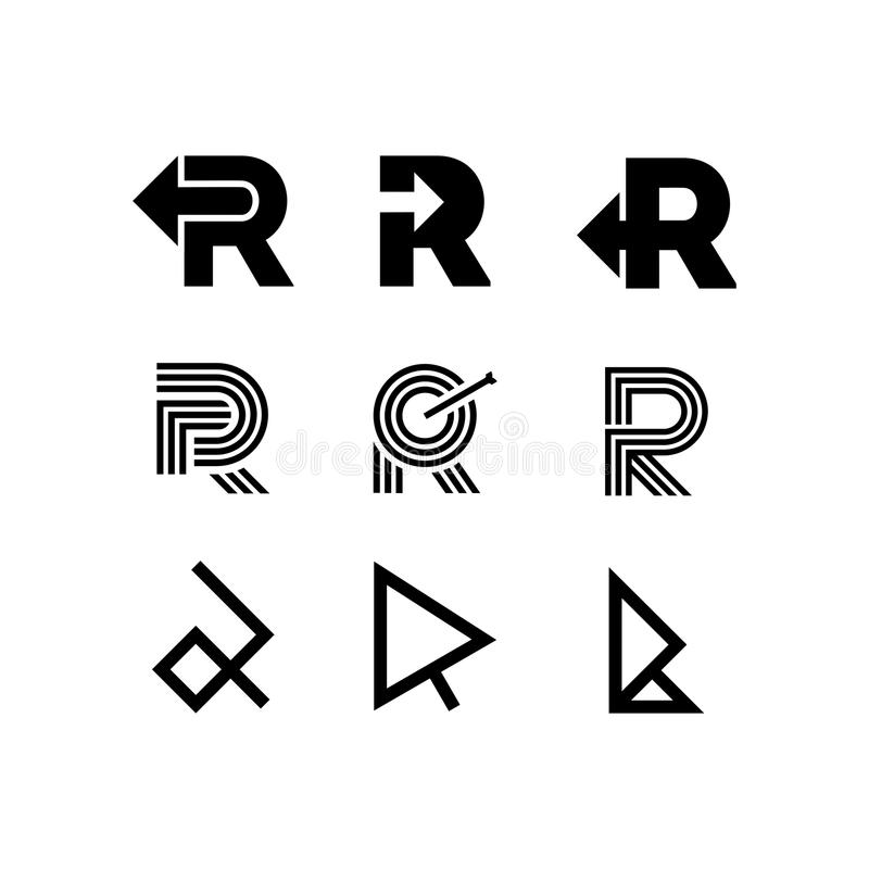 Freccia di Logo Letter R di vettore illustrazione vettoriale