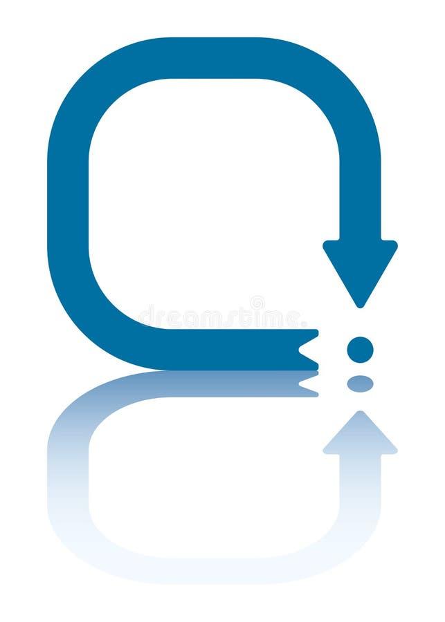 Freccia di riavvio illustrazione vettoriale