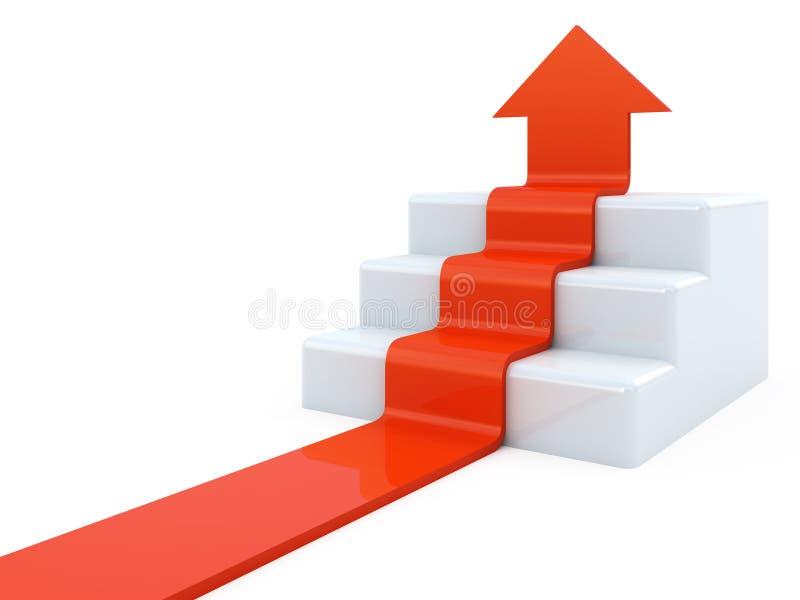 Freccia di sopra illustrazione di stock