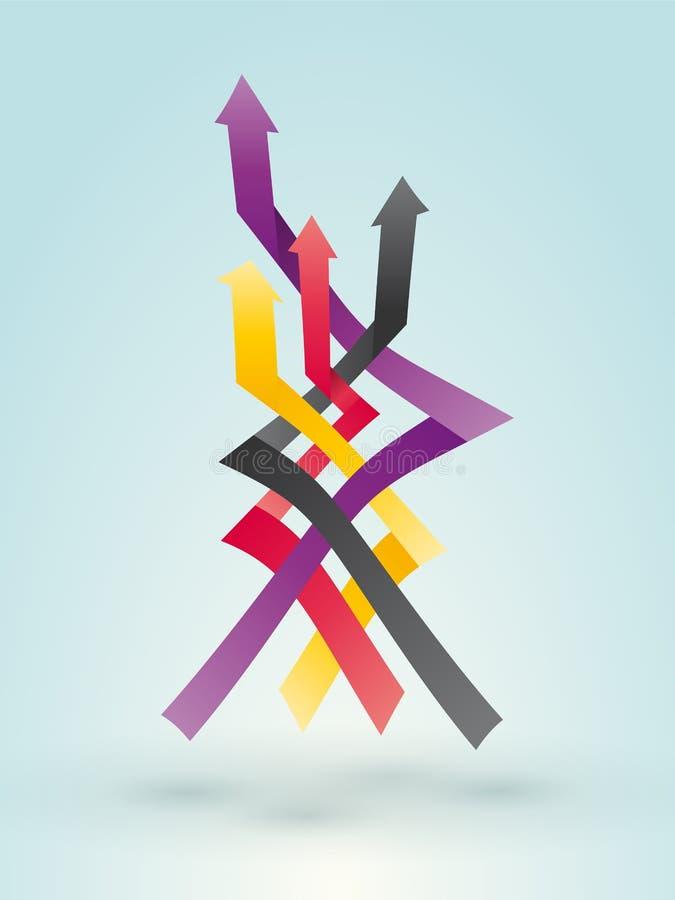 Freccia di sovrapposizione illustrazione vettoriale
