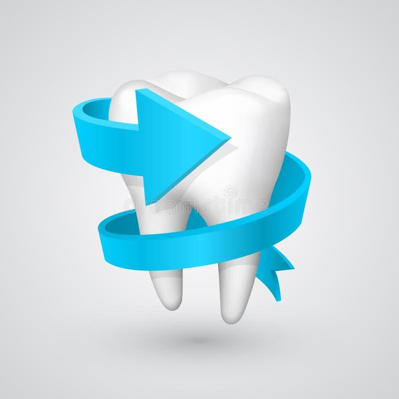 Freccia di spirale del dente di vettore illustrazione vettoriale