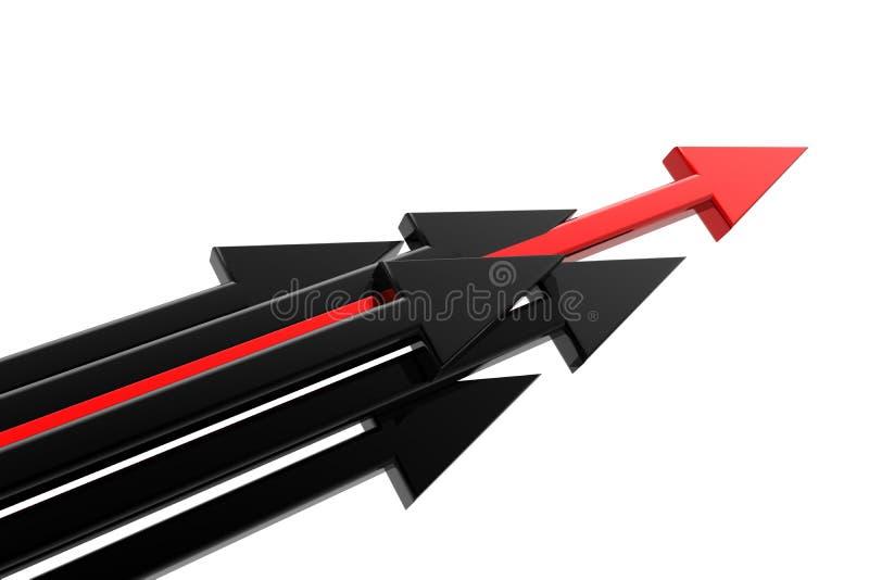 Freccia di successo illustrazione vettoriale