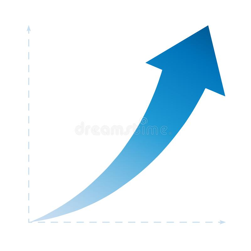 Freccia di successo in su illustrazione vettoriale