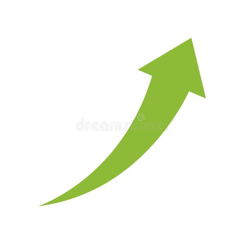 Freccia di successo in su illustrazione di stock
