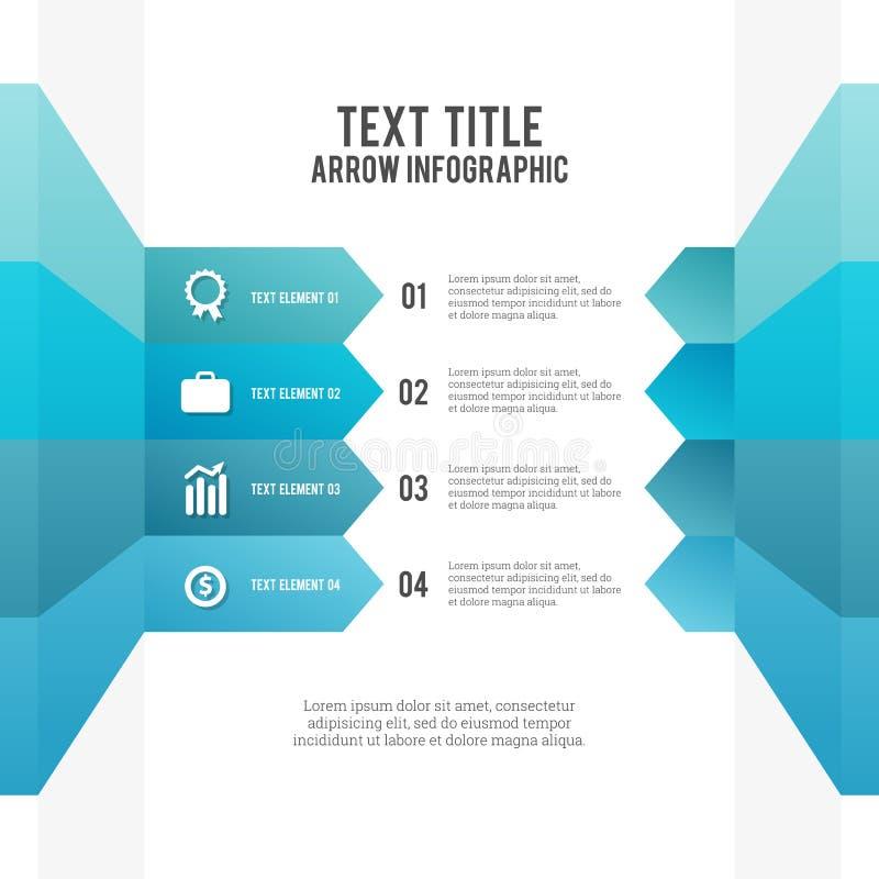 Freccia Infographic illustrazione vettoriale