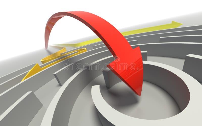 Download Freccia in labirinto. illustrazione di stock. Illustrazione di concorrenza - 7311229