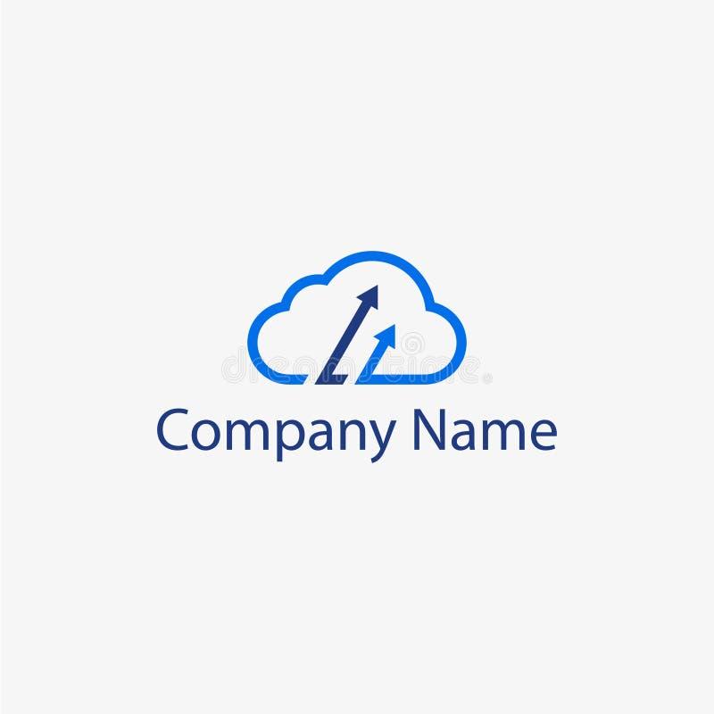 Freccia Logo Template della nuvola illustrazione di stock