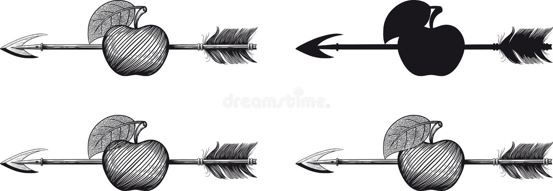 Freccia in mela royalty illustrazione gratis