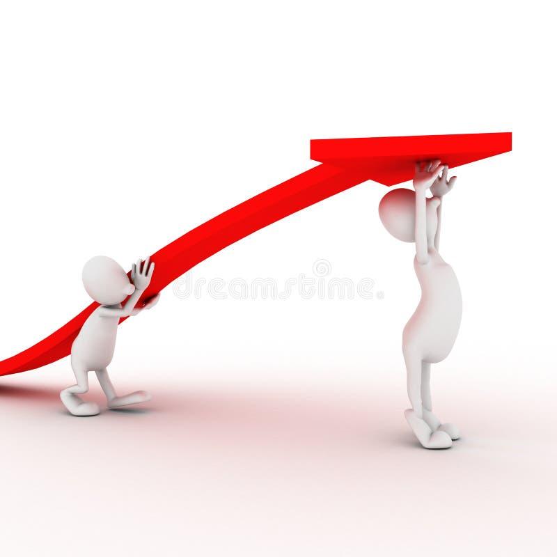 Freccia rossa economica fotografia stock