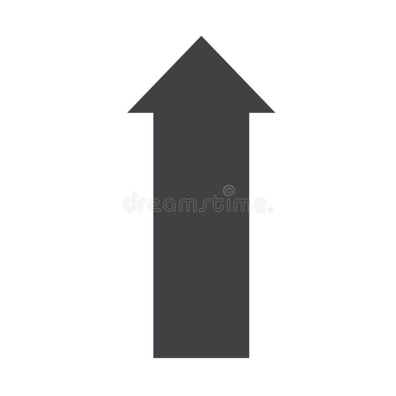 Freccia sull'icona su fondo bianco Stile piano freccia sull'icona per la vostra progettazione del sito Web, logo, app, UI Simbolo illustrazione vettoriale
