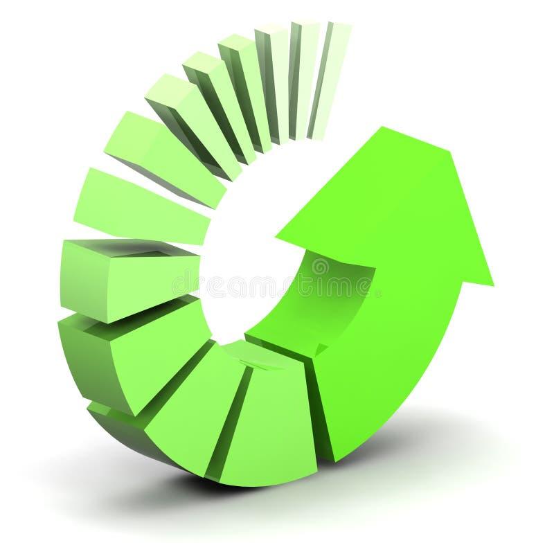 Freccia trattata verde illustrazione vettoriale