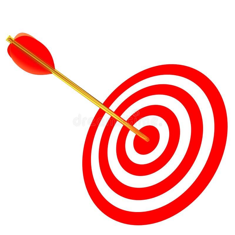 Freccia in un obiettivo illustrazione vettoriale