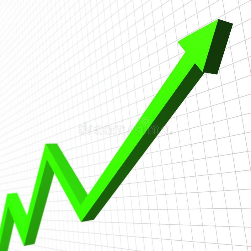 Freccia verde illustrazione di stock