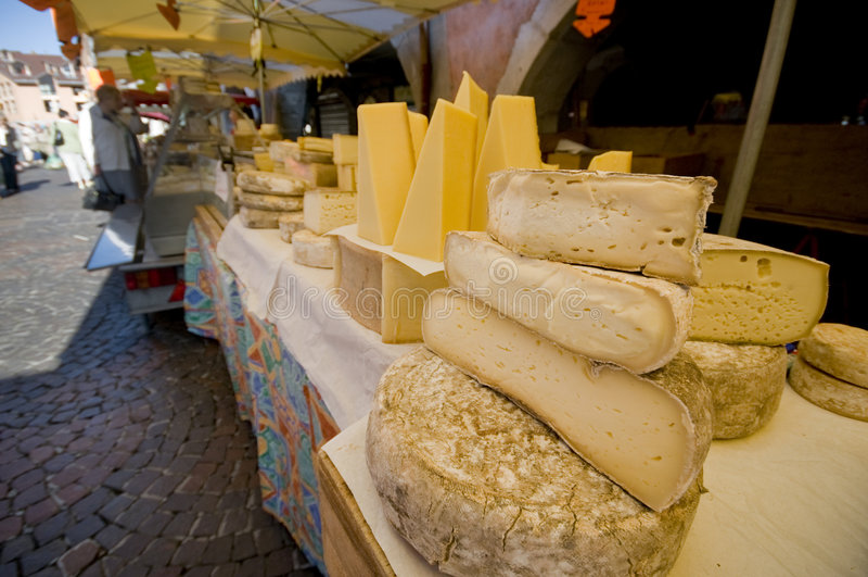 Frech market place stock photo