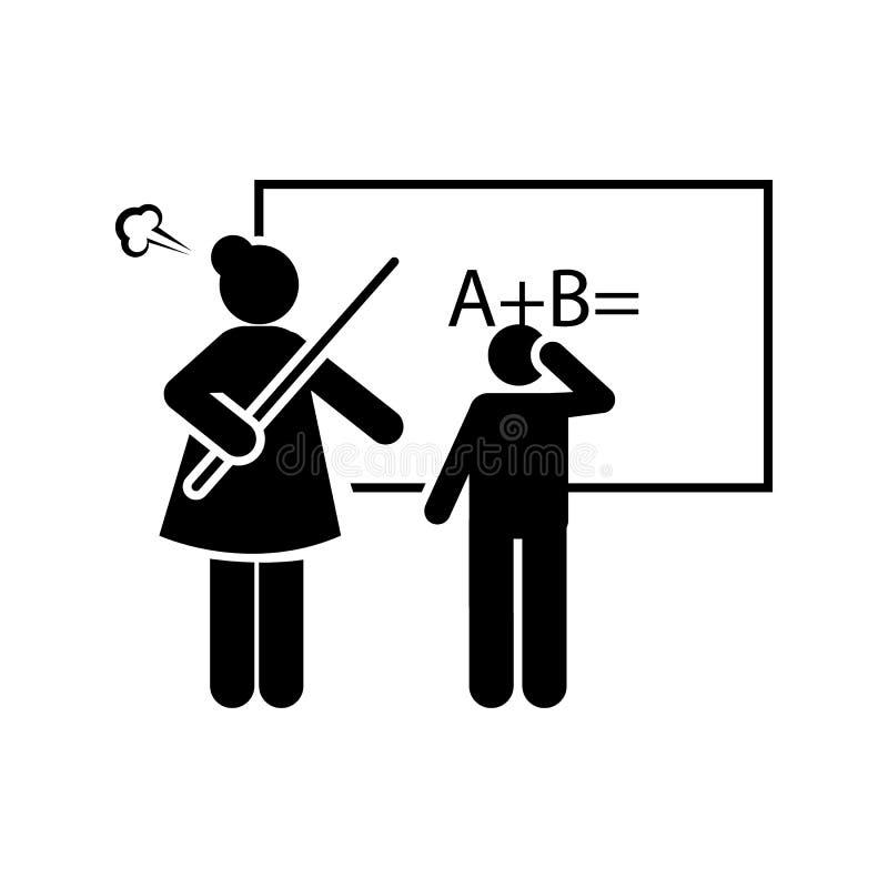 Frech, Student, schlechte Ikone Element des Bereicherungsprogramms f?r Schulikone Erstklassige Qualit?tsgrafikdesignikone Zeichen stock abbildung