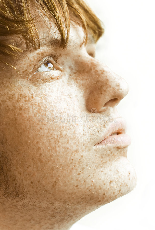 Freckles royalty free stock photography